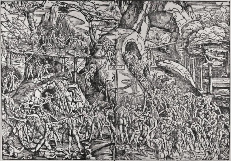 Battle between Men and Satyrs