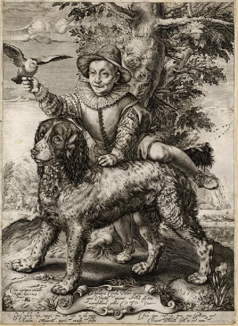 Portrait of Frederick de Vries with Goltzius' dog