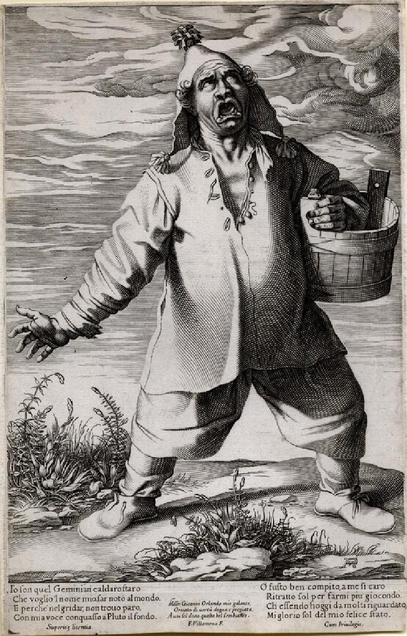 Geminiano Caldorostaro (Roast Chestnut Seller) (WA1863.5649, record shot)