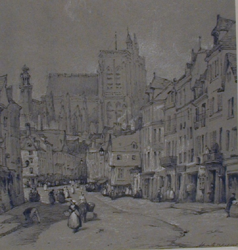 Abbeville, from the Rue Alfred Cendré