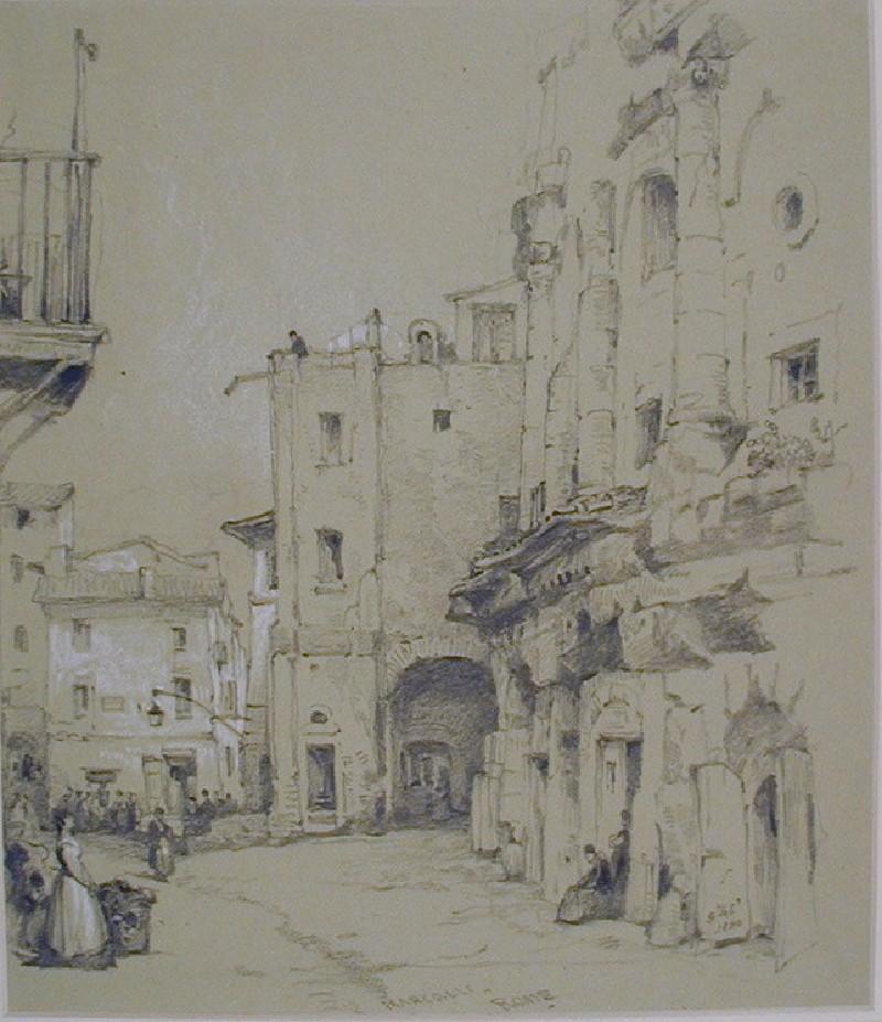 A Street Scene in Rome