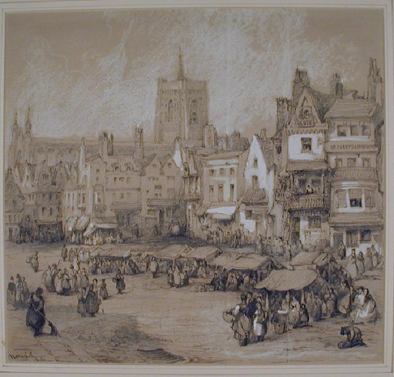 The Market Square and St Peter Mancroft, Norwich