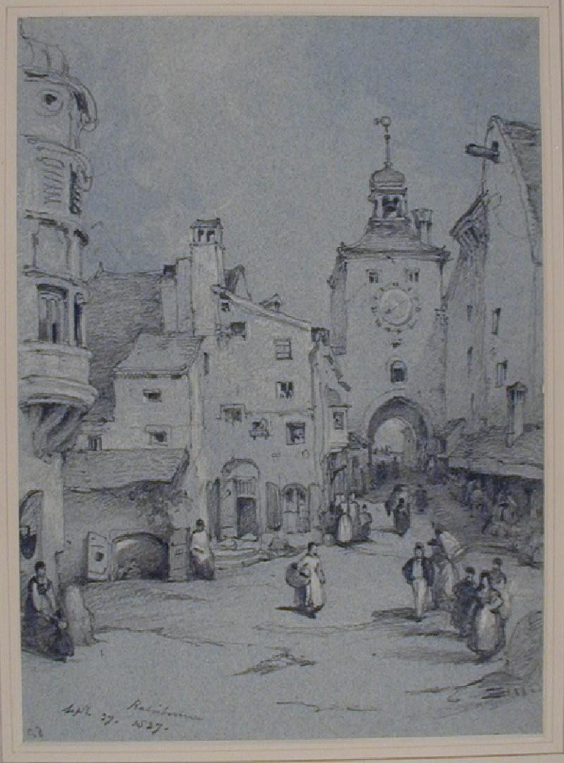 A Street Scene in Regensburg