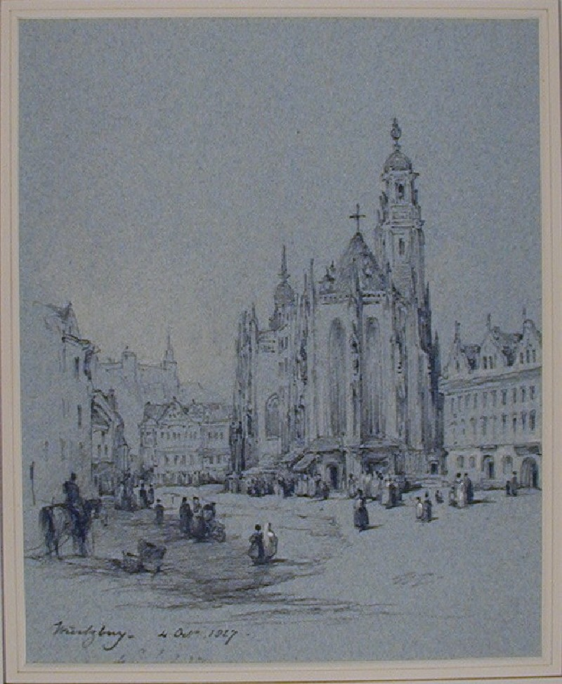 The Market Place, Würzburg (WA1881.176, record shot)