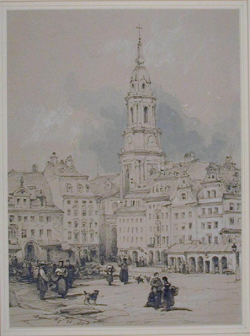 The Altmarkt and Kreuzkirche, Dresden