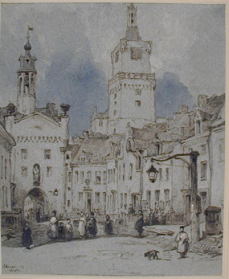 Street Scene with the Schwanenburg, Cleves