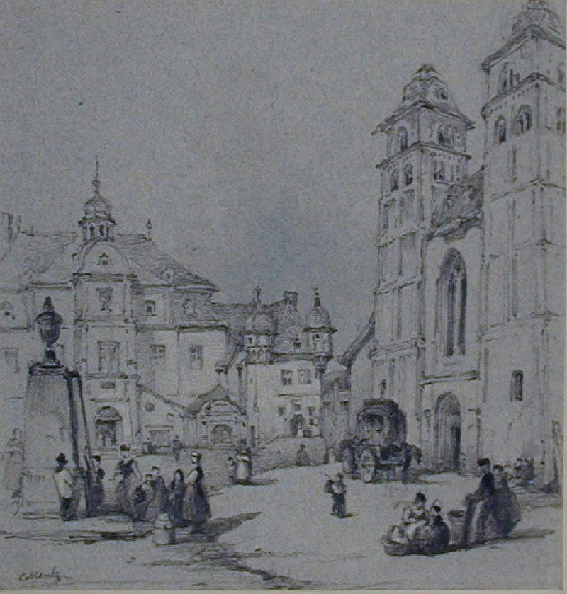 Am Plan, with the Liebfrauenkirche, Koblenz