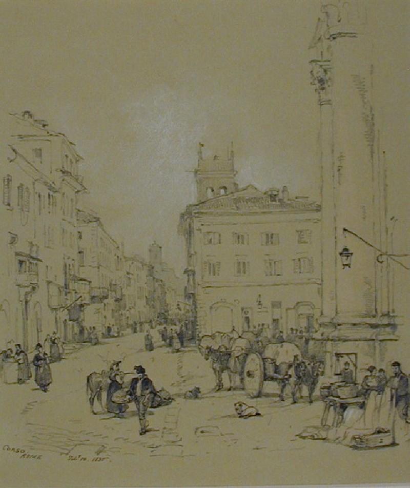 The Corso, Rome (WA1881.230, record shot)