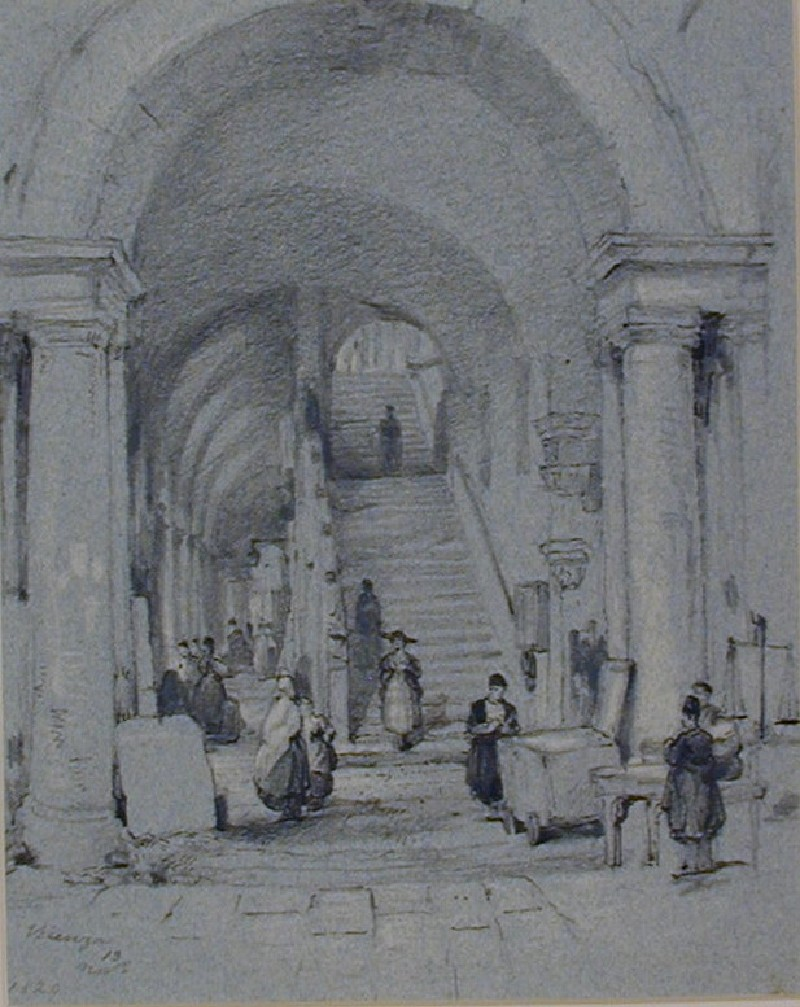 Staircase and Arcade, Vicenza (WA1881.288, record shot)
