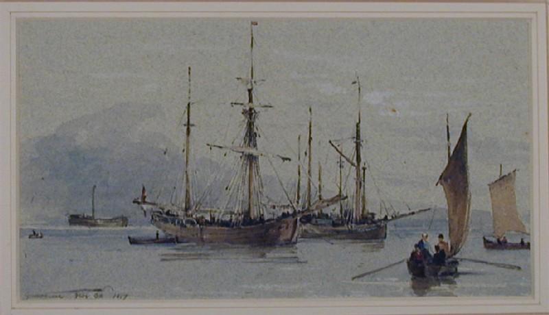 Shipping on the River Garonne