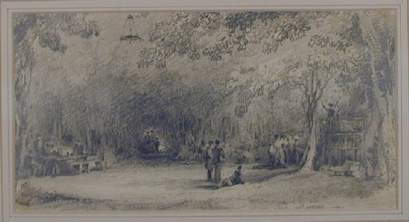 Figures in a wooded glade, Marly