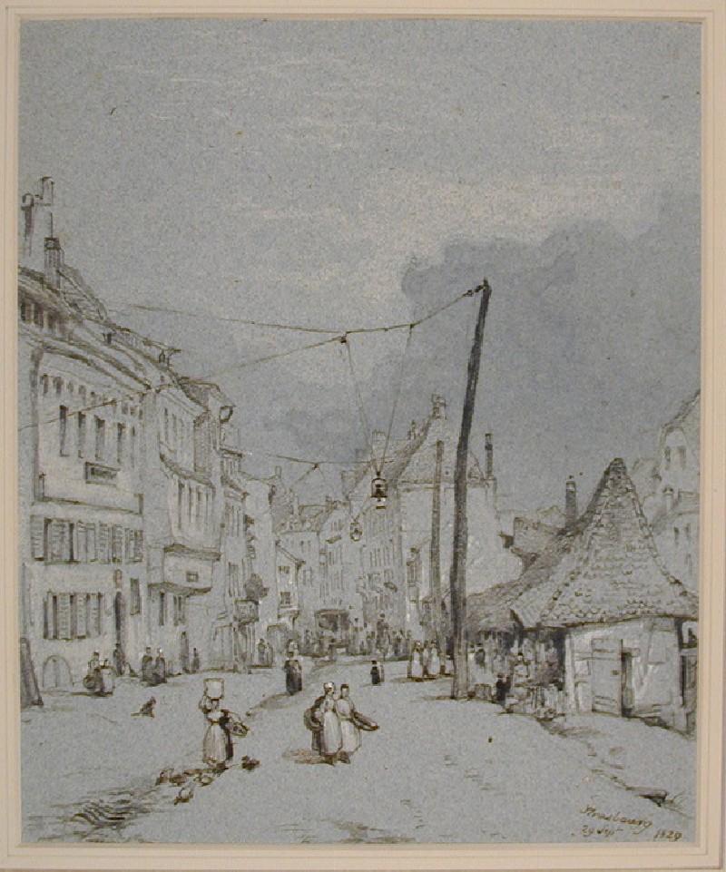 A Street Scene in Strasbourg