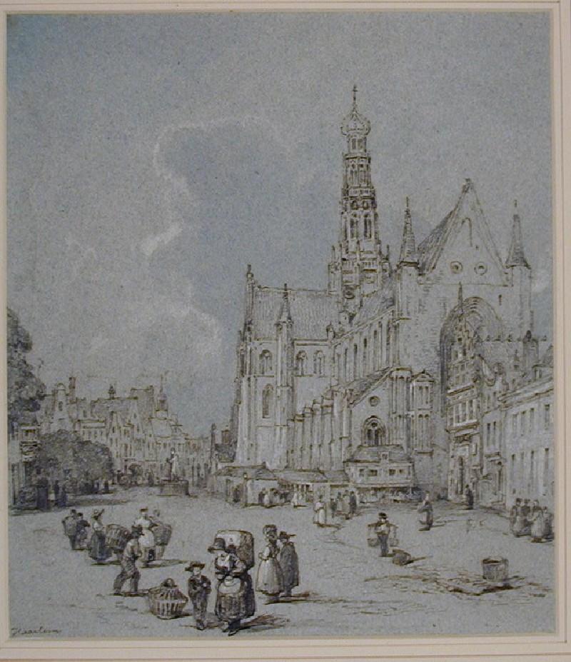 The Grote Markt and Sint Bavokerk, Haarlem
