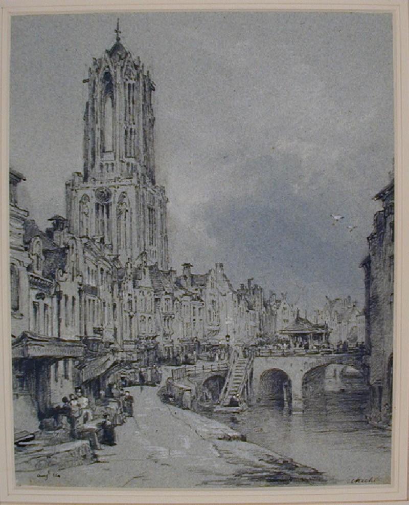 Street Scene with the Domkerk, Utrecht