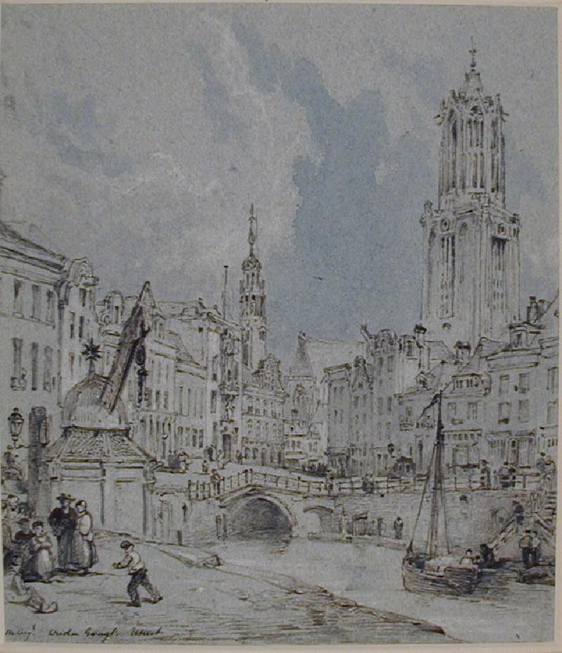 The Oudegracht with the Domkerk, Utrecht