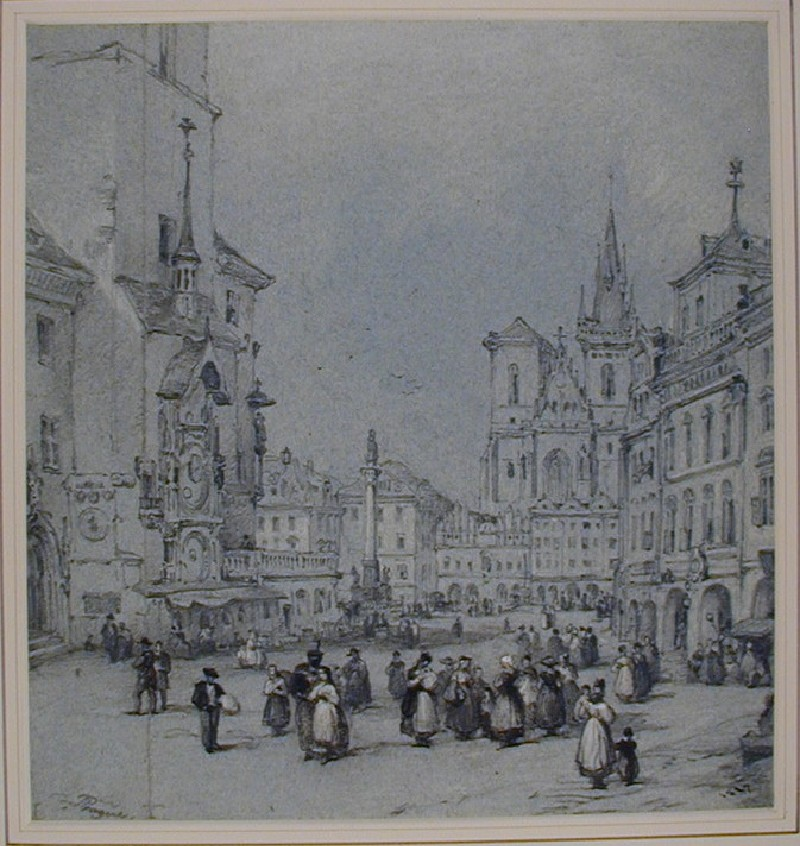 The Old Town Square, Prague (WA1881.32, record shot)