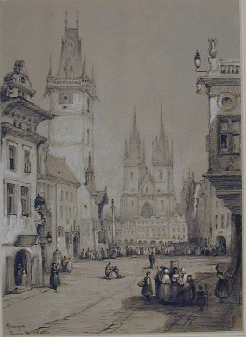The Old Town Hall and Tyn Church, Prague