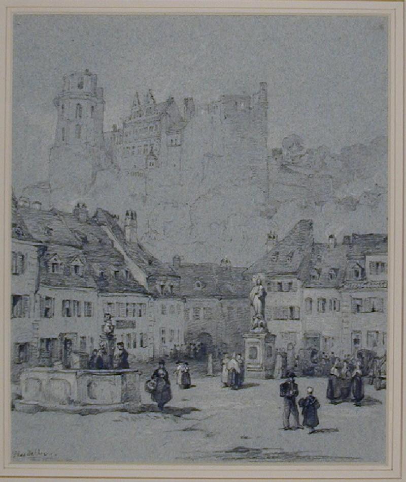 The Schloss from the Kornmarkt, Heidelberg