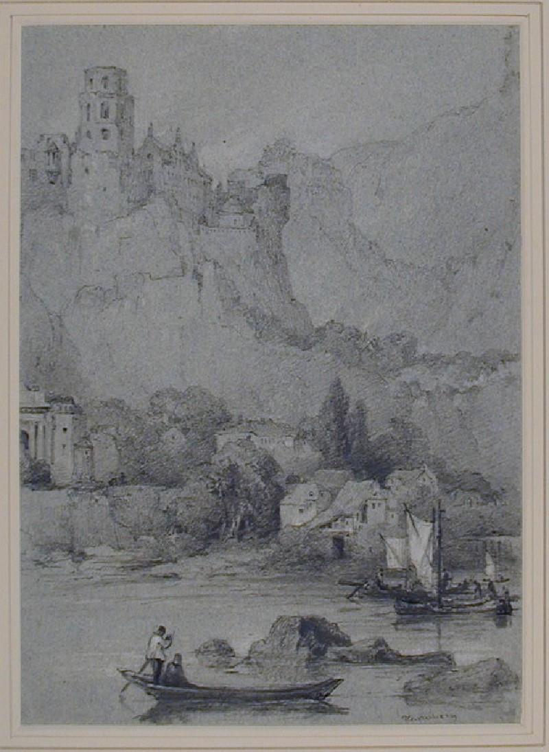 The Schloss from across the River Neckar, Heidelberg