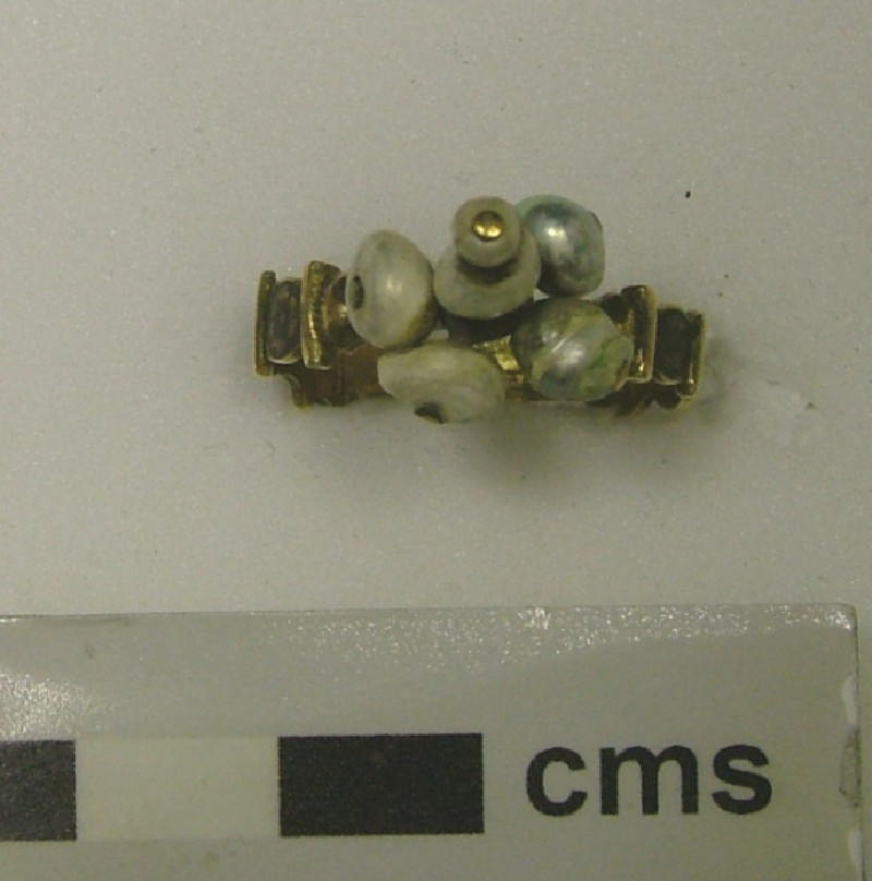 Ornamental ring with six pearls at the bezel (WA1897.CDEF.F379, record shot)