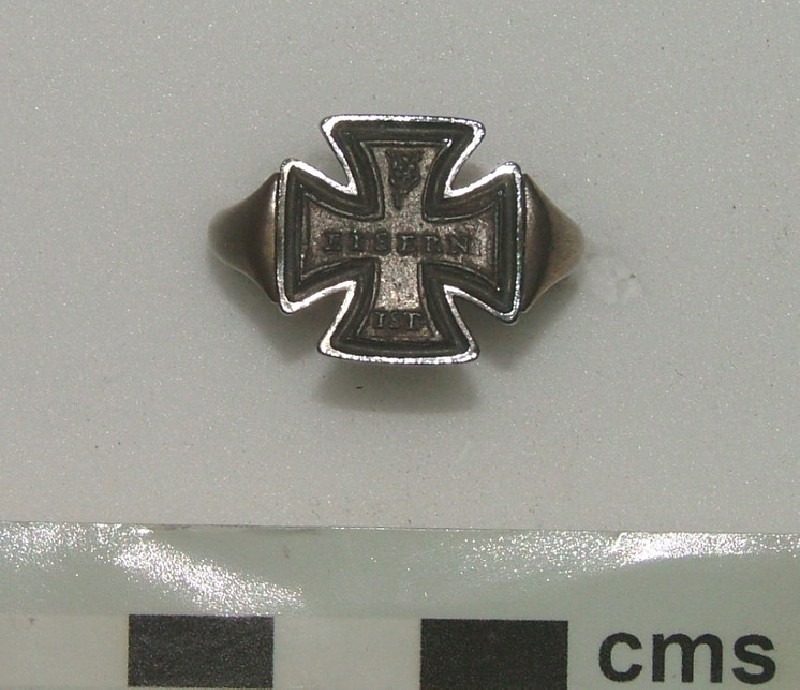 Religious ring (WA1897.CDEF.F537, record shot)