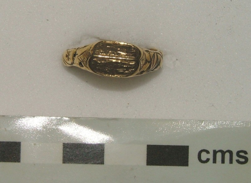 Iconographic ring with the Virgin and Child and St Christopher (WA1897.CDEF.F586, record shot)