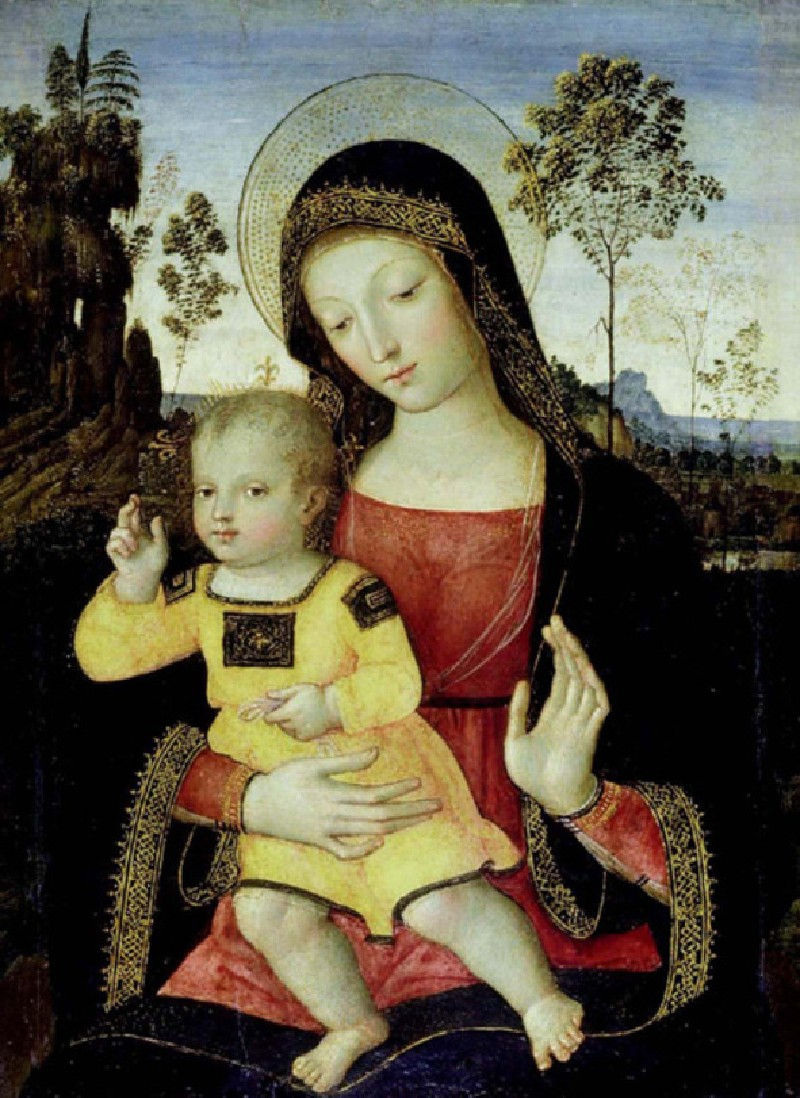 The Virgin and Child (WA1899.CDEF.P10, record shot)