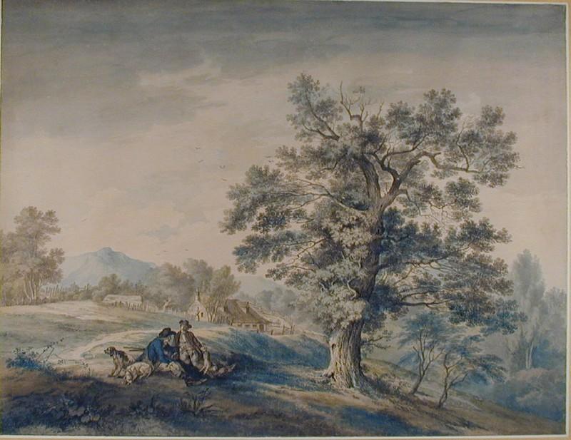 Landscape Composition with Sportsmen Resting (WA1916.13, record shot)