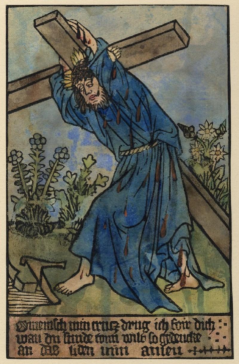 Christ bearing the cross (WA1917.16, record shot)