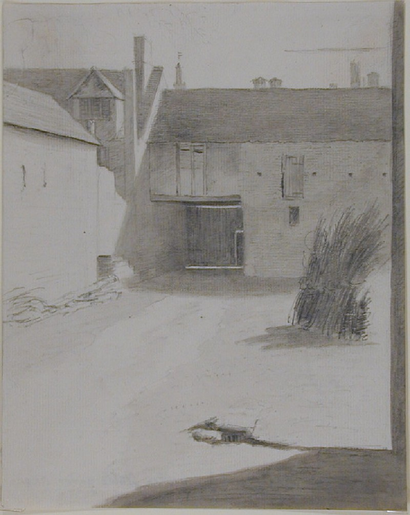 The Stable Yard at Merton College (WA1925.29, record shot)