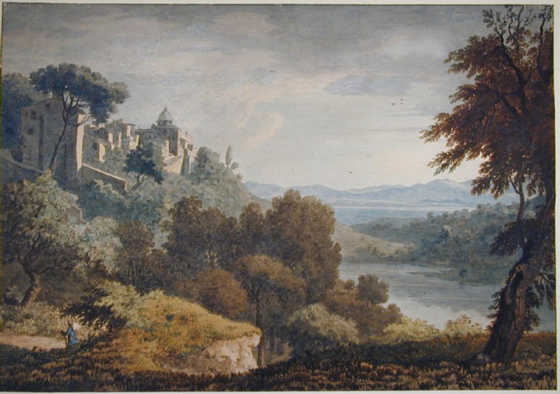 Castel Gandolfo and the Lake of Albano (WA1925.295, record shot)