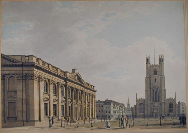The South Front of the Senate House and Great St Mary's Church, Cambridge (WA1934.165, record shot)