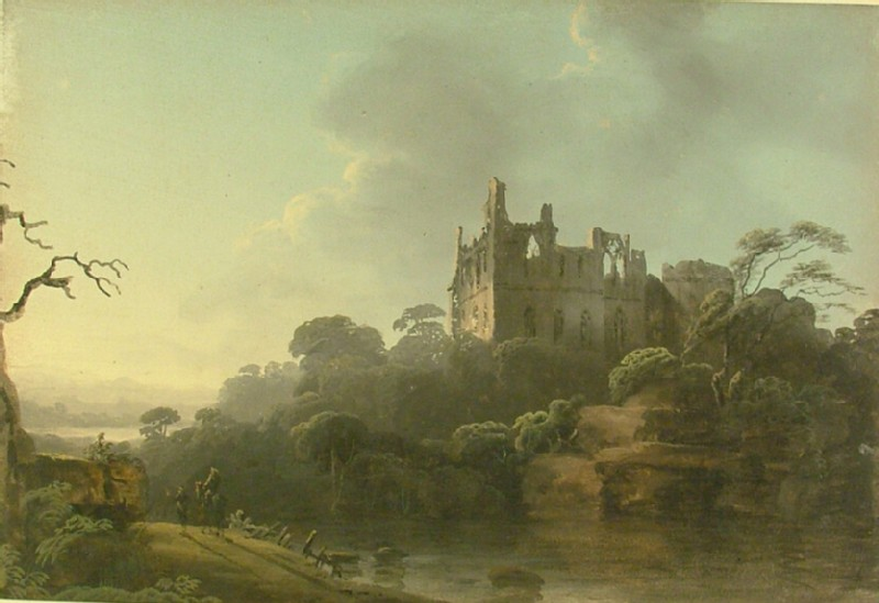 Landscape with a Castle Ruin by a River