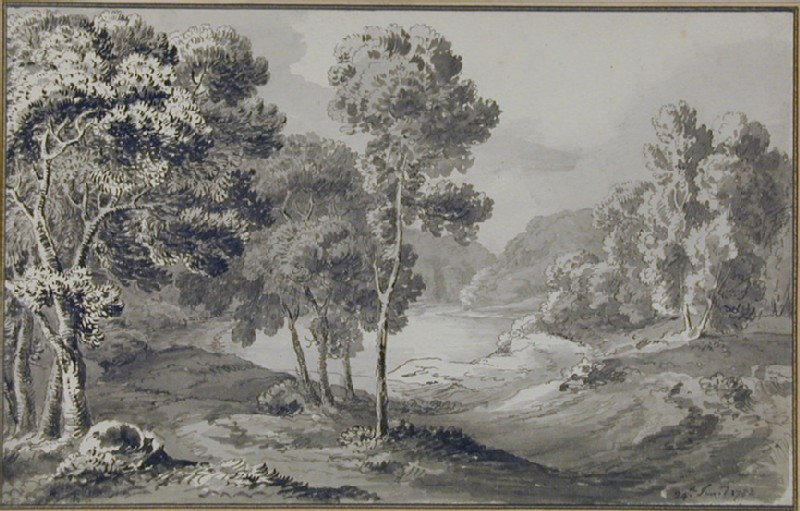 Wooded Landscape with a Lake (WA1934.234, record shot)