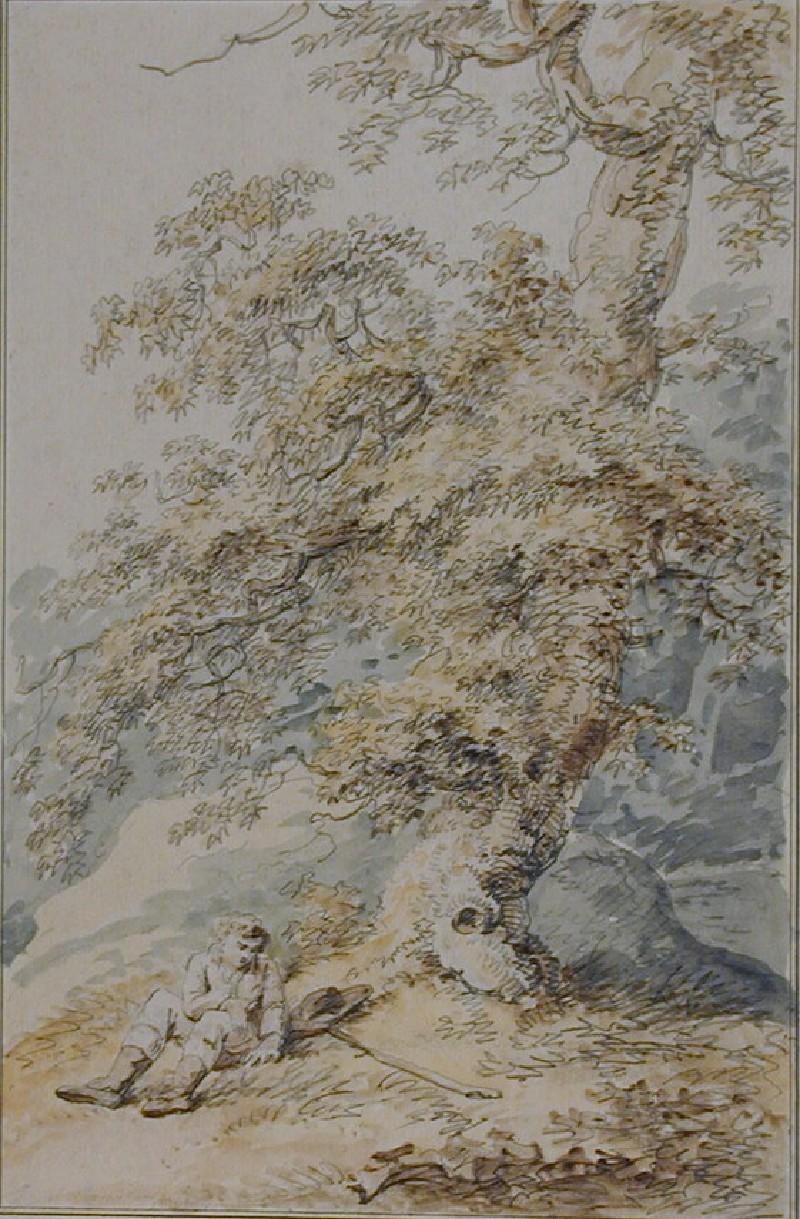 Man resting under a Tree