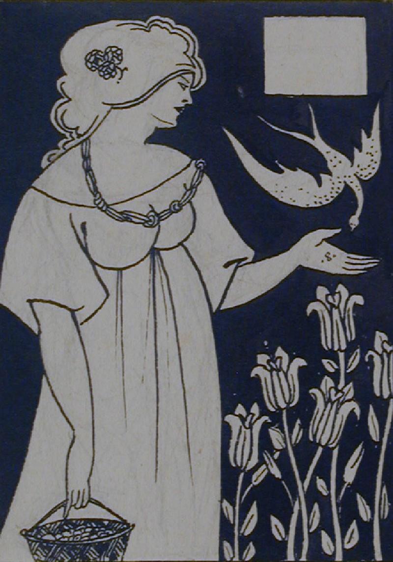 A Lady feeding the Birds, for Malory's 'Morte d'Arthur'