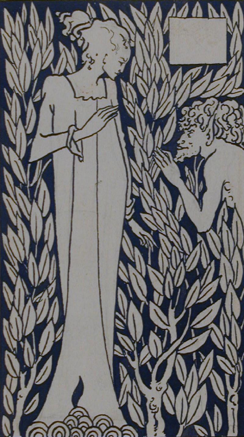 Girl and Satyr, for Malory's 'Morte d'Arthur' (WA1941.116, record shot)