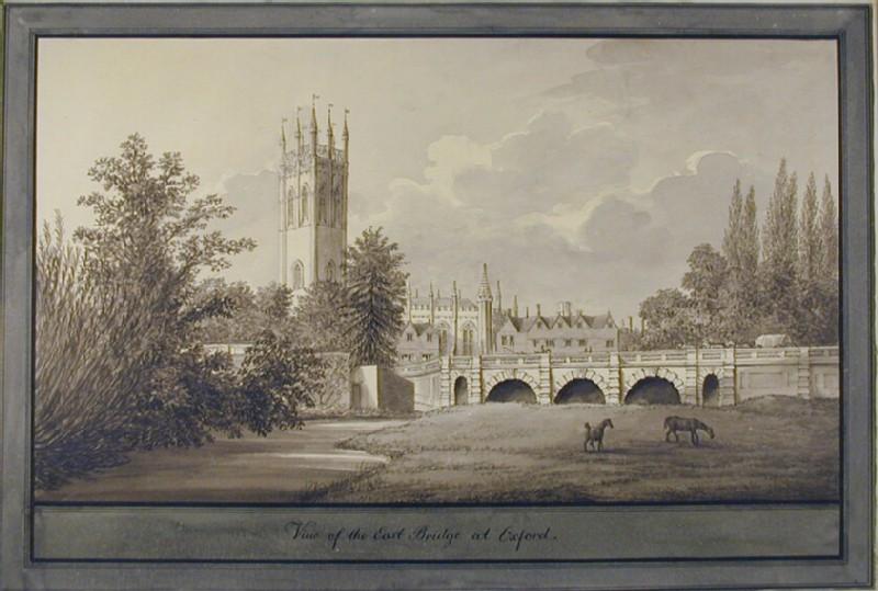 View of the East Bridge at Oxford (WA1941.49.1, record shot)