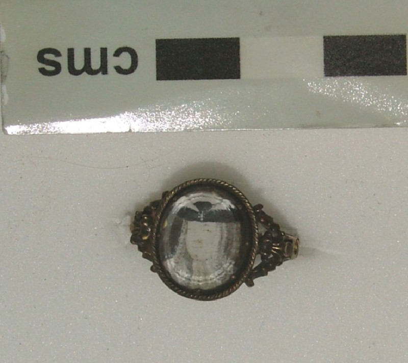 Ring containing portraits of first Pretender, James Frances Edward Stuart and second wife Clementina Sobieska (WA1949.246, record shot)