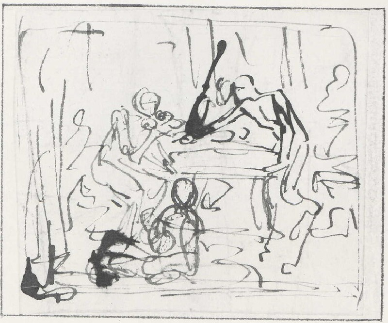 Study for a Composition with Figures at a Table