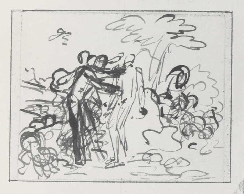 Study for a Composition of two Figures in a Landscape