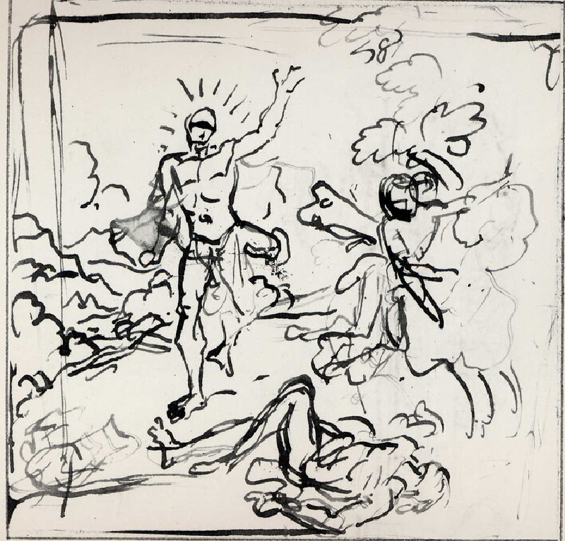 Study for a Composition of three Figures