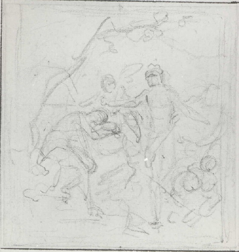 Composition of two Figures with Cupid (WA1949.291, record shot)