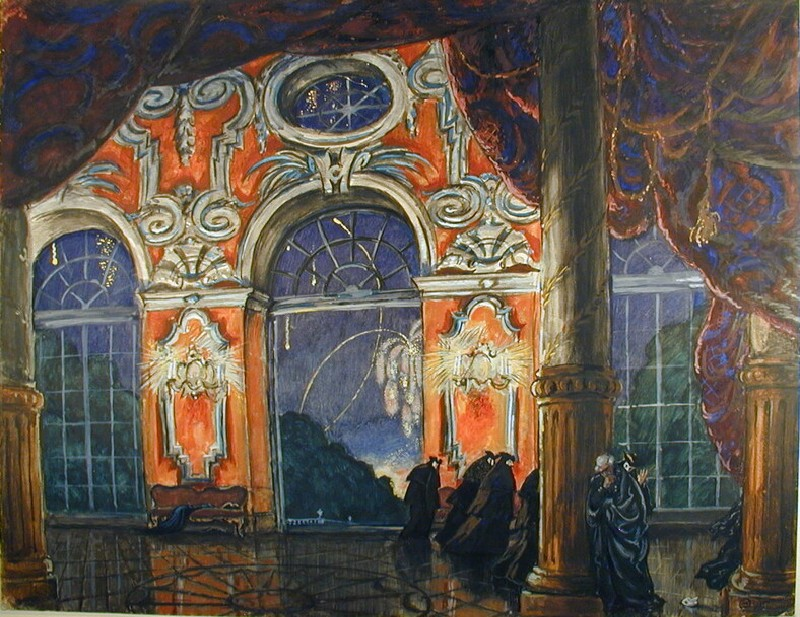 Design for a Set for the Opera 'La Dame de Pique' (WA1949.334, record shot)