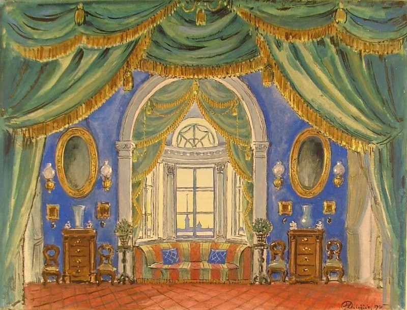 Design for a Set for the Opera 'Eugène Onegin' (WA1949.335, record shot)