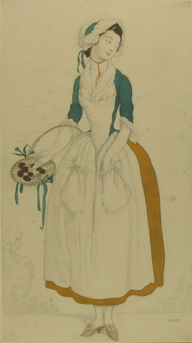 Design for the Costume of a Soubrette