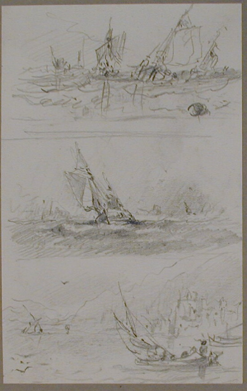 Three studies for seascapes