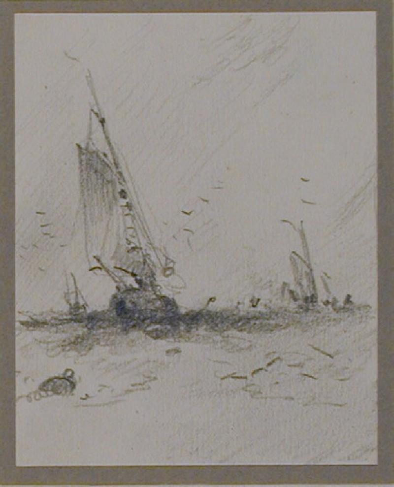 Sailing boats and buoy