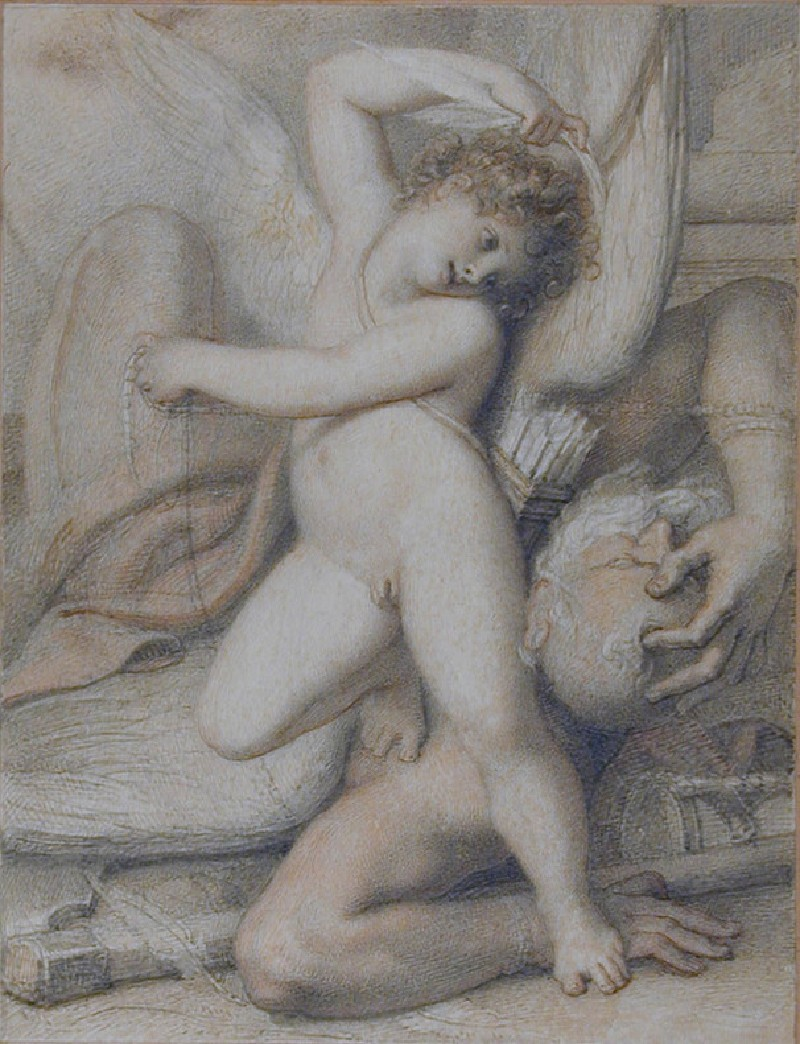 Cupid Plucking the Wings of Time
