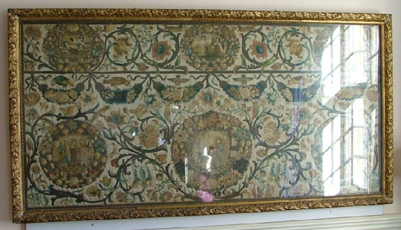 Embroidered altar frontal: 'St Theresa of Avila'